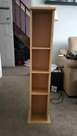 Beech coloured shelf unit