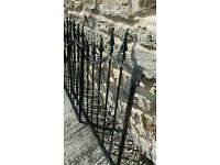 Iron driveway gates