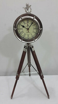 Vintage Maritime 49 Bond Street London Desk Clock Nautical Table Clock Vintage