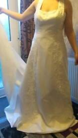 Halter style wedding gown