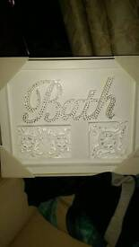 carved Bath wall plaque