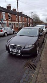 55 Plate Audi A3 Special Edition, 1600cc, petrol , 3 door hatchback, dark grey in colour