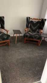 Chairs x2 and small coffee table x2