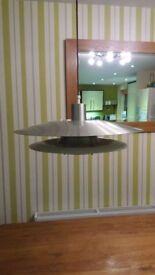 Original 1970's pull down dining room light.