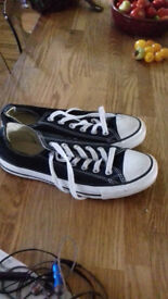 Boys/Mens converse trainers and pair of adidas trainers. Barely worn. As new. £8 each pair.
