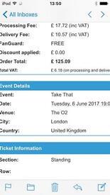 1 Take That ticket,