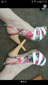 size 4 strap heels