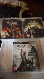 PS3 GAMES FALLOUT3, FALLOUT NEW VEGAS + ASSASSINS CREED 3 - £10 EACH