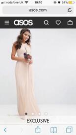 Tfnc pleated bridesmaid dress