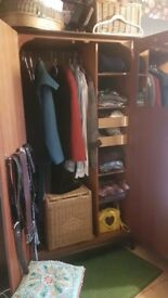 Now4less - STAG wardrobe, vintage, dark brown wood - can deliver.