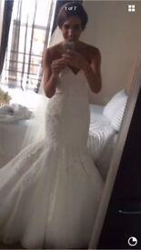 James madison ivory wedding dress eleganza size. 8/10