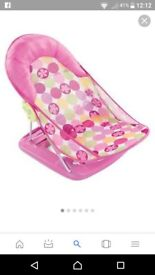Pink baby seat for the bath