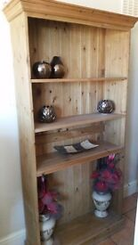 Excellent condition pine book case
