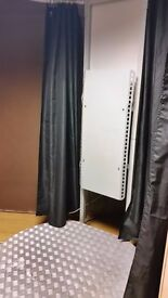 Salon Spray Tan Stand with built in extractor and curtains!
