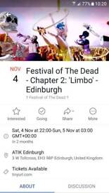 Festival of the dead tickets X 2
