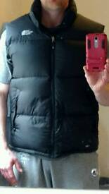 Mens North Face Nuptse 700 Gilet bodywarmer puffer vest xl