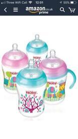 Nuby Pink/Aqua Bottles
