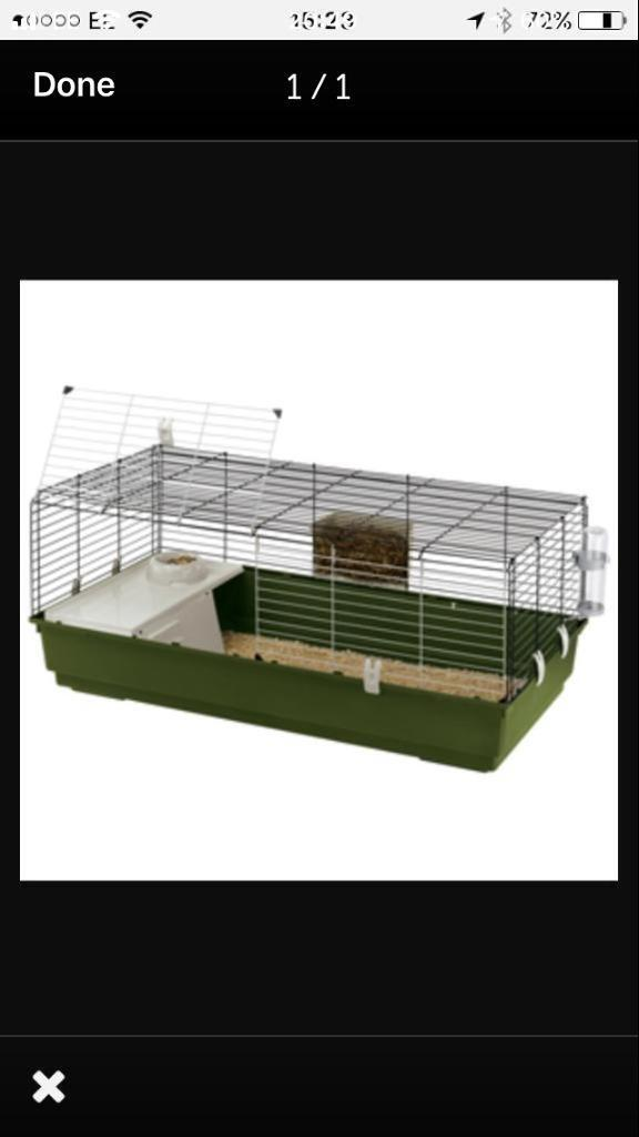 Indoor rabbit hutch or small animal cage