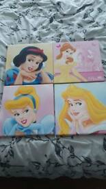 Disney princess canvas pictures