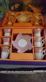 Small Coffee Tea Cups & Saucers