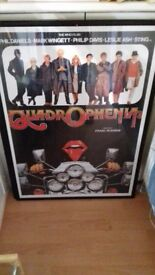 Quadrophinia framed poster.