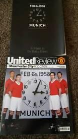 Munich Busby Babes Tribute Man Utd 2008 football programmes Feb 6th 1958