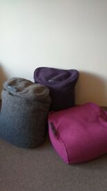 3 XLuxury Ambient Lounge Ottoman Bean Bags. Great condition