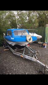 Wilson flyer 17 foot fishing boat