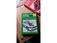 Haynes manuels vauxhall/opel corsa and vauxhall vectra