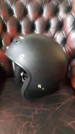 Crash helmet open faced