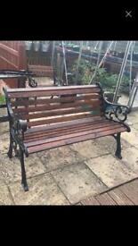 Vintage cast iron benches