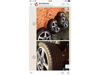 4 X type tyres with alloy rims