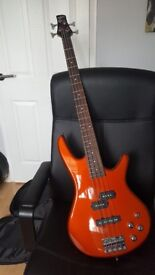 Bass Guitar, Amp and Case