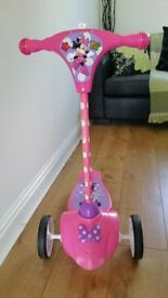 Minnie mouse pink singing scooter