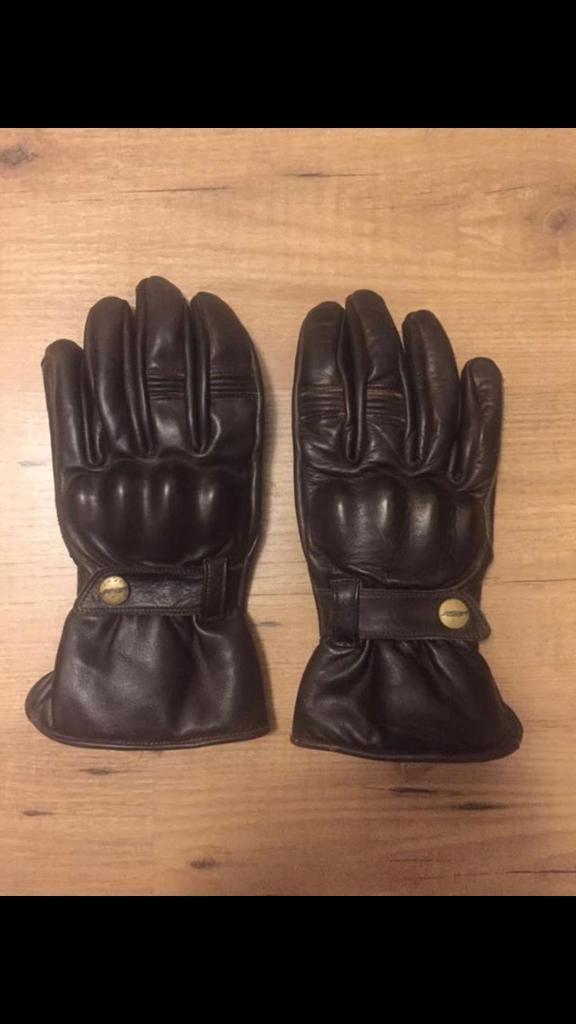 RST Leather Motorbike Gloves