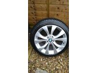 2 x Front BMW X5 M-SPORT 20INCH ALLOY WHEELS & TYRES