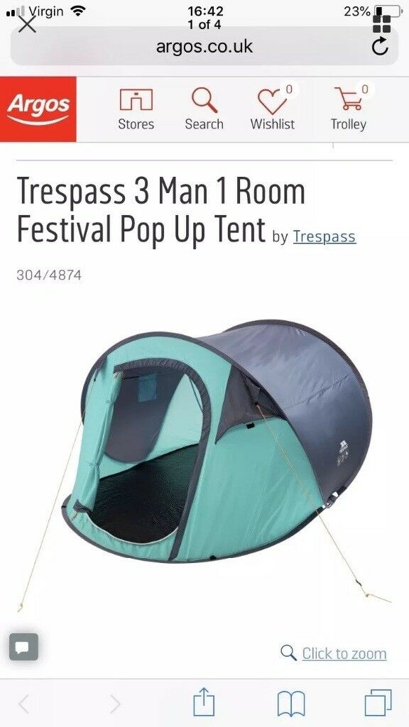 premium selection d710a f8186 3 person pop up tent used once ideal for festivals!! | in Carlisle, Cumbria  | Gumtree