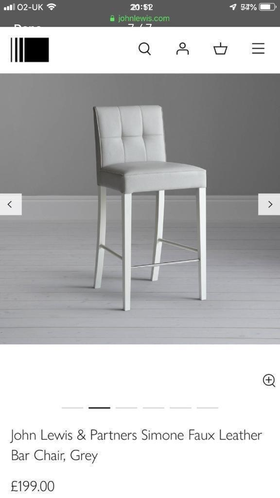 c3acda578de 3 x Bar stools in grey from John Lewis