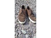 Lacoste Suedette Brown Shoes. Size 11