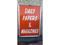 sign vintage newsagents advertising metal sign