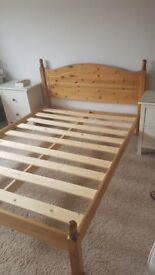Solid Pine Double Bed Frame in excellent condition