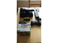 BUNDLE: XBOX 360 250GB + KINNECT + TWO CONTROLLERS + FEW GAMES+ NYKO ZOOM SMALLER ROOMS