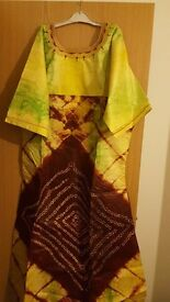 African Maxi Ladies Dress,African Print, Free Size, African Fabric