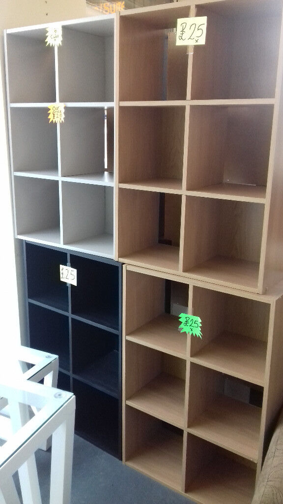 STORAGE CUBE / UNITS. Colors White, Grey, Black, Lght Oak, Beech. READY ASSEMBLED... Local Delivery