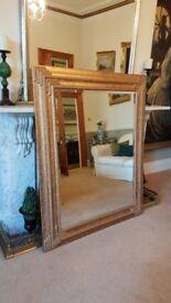 large ornate gold mirror, stunning quality item