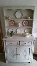 Shabby Chic 'Aged White' Kitchen Dresser