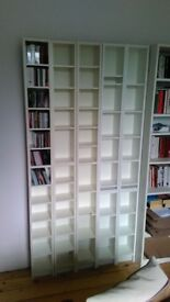 5 White Gnedby/Benno CD & DVD Shelving units