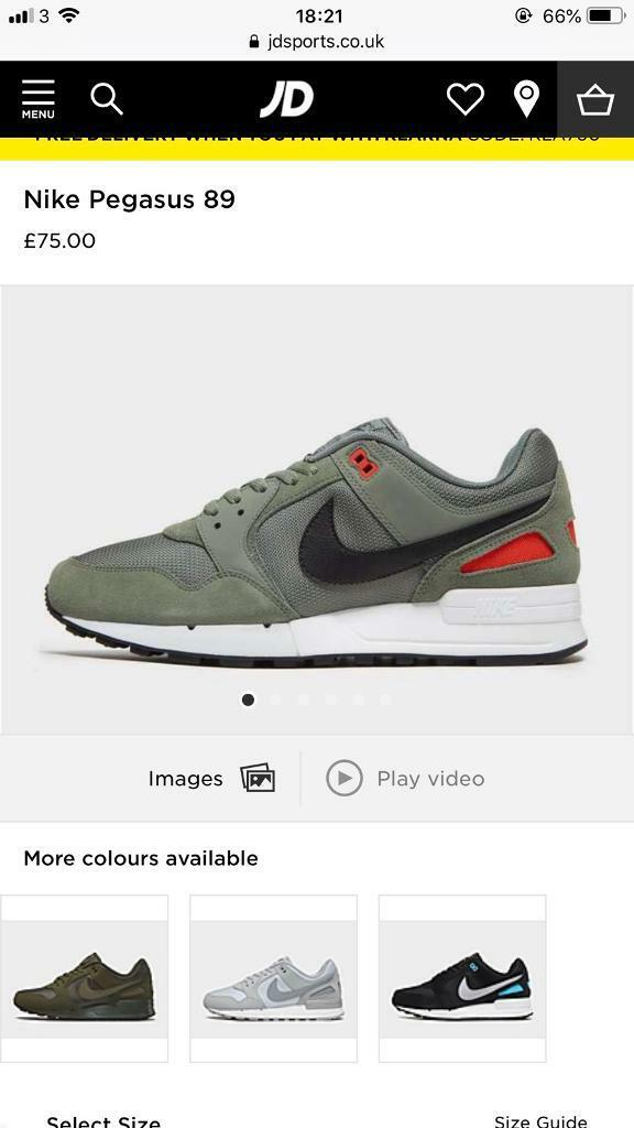 newest c5f75 7c9e7 Nike Pegasus 89 - Brand New in box - size 9 | in Dundee | Gumtree