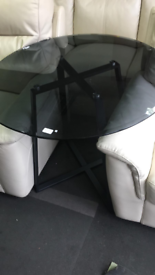 Glass dining table £20