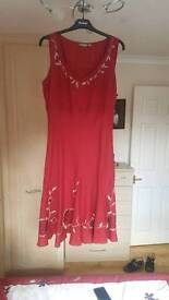 Marks & Spencer per una red mid length dress size 14
